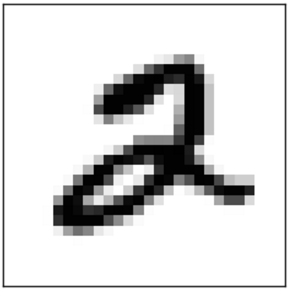 Example MNIST digit